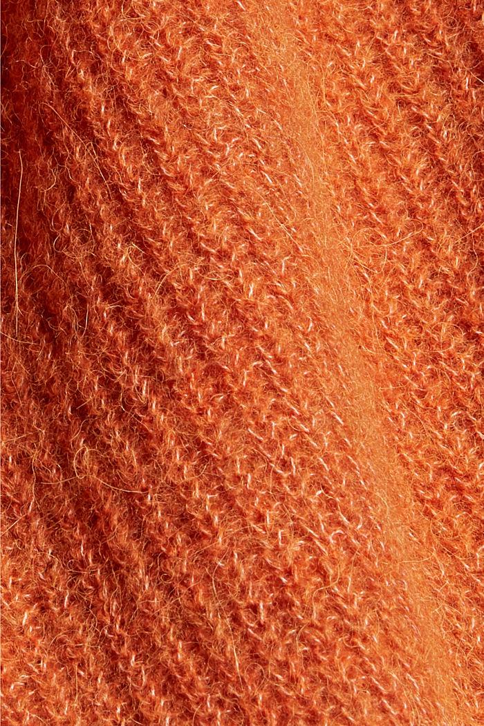 Met alpaca/wol: vest met een V-hals, TERRACOTTA, detail image number 4