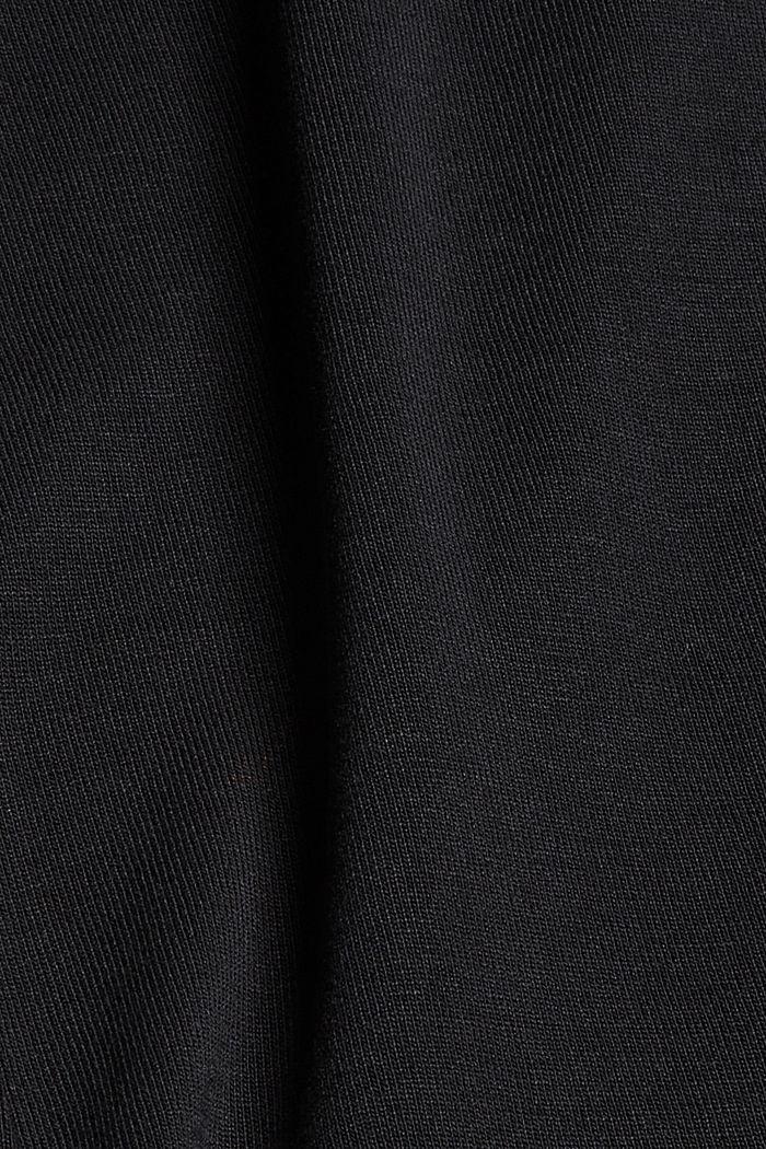 Made of TENCEL™ x REFIBRA™: V-neck long sleeve top, BLACK, detail image number 4