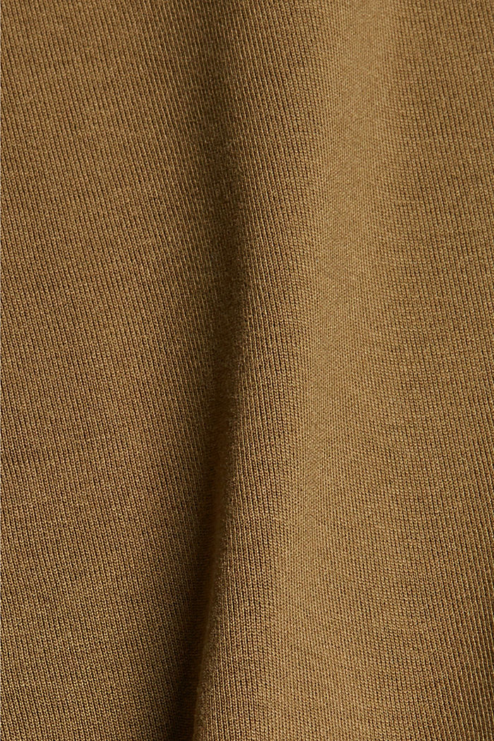 Made of TENCEL™ x REFIBRA™: V-neck long sleeve top, DARK KHAKI, detail image number 4