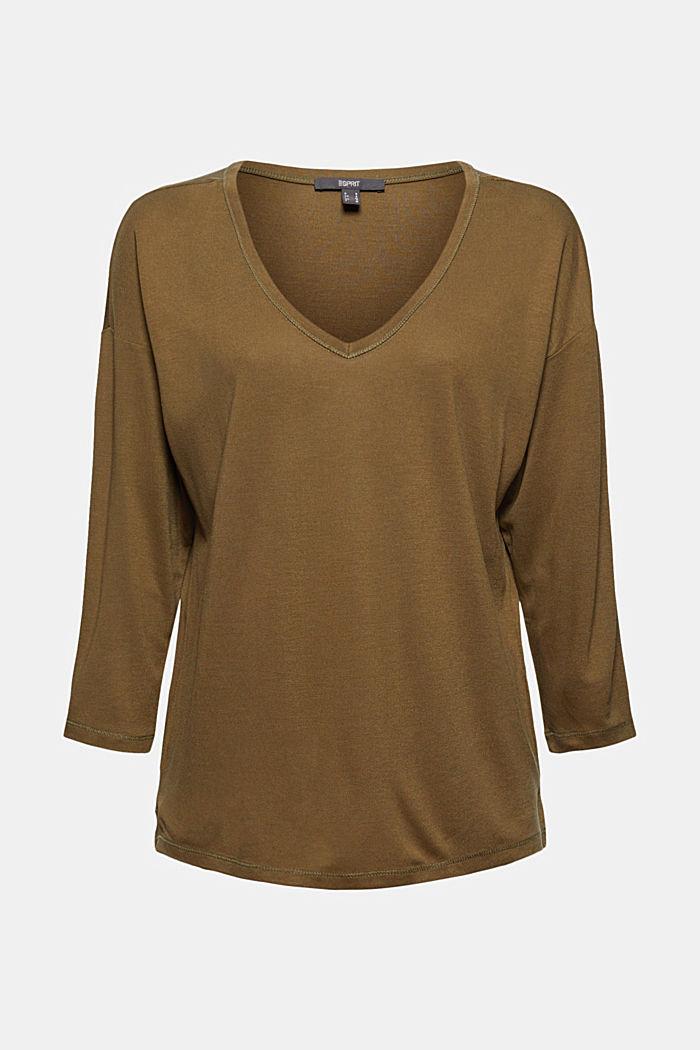 En TENCEL™ x REFIBRA™: le t-shirt à manches longues et col V