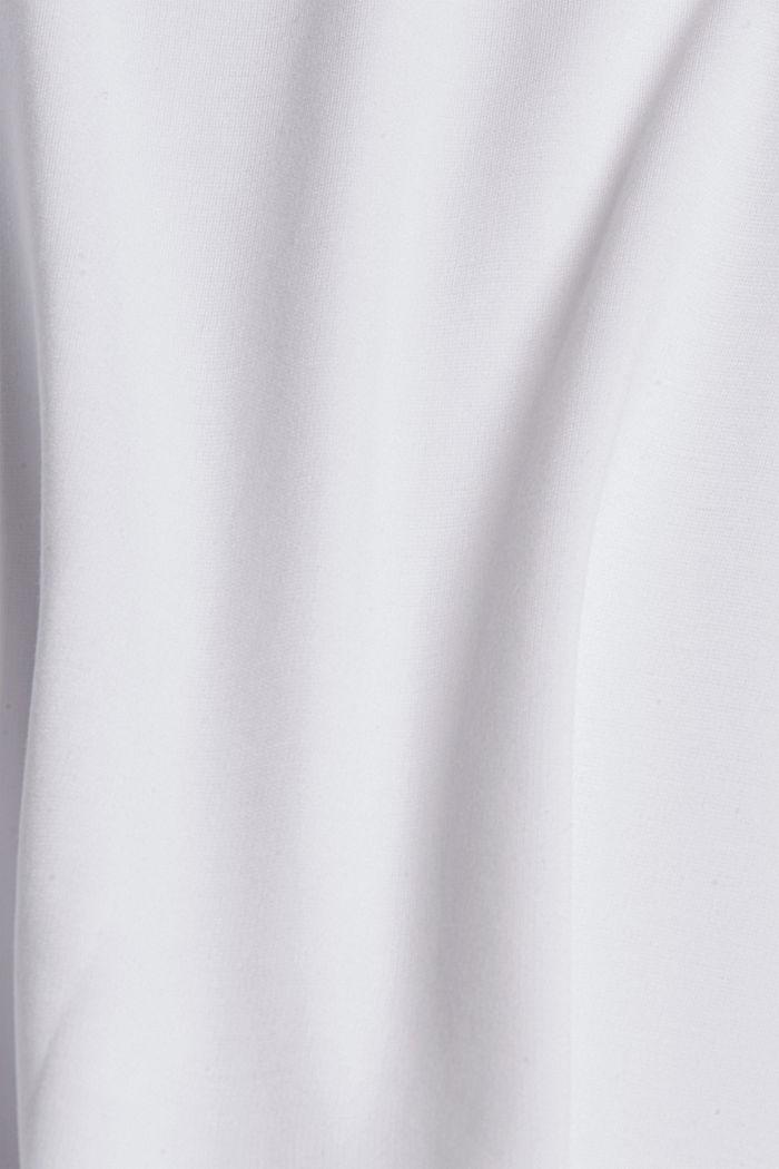 Camiseta con cuello de camisa, LENZING™ ECOVERO™, WHITE, detail image number 4