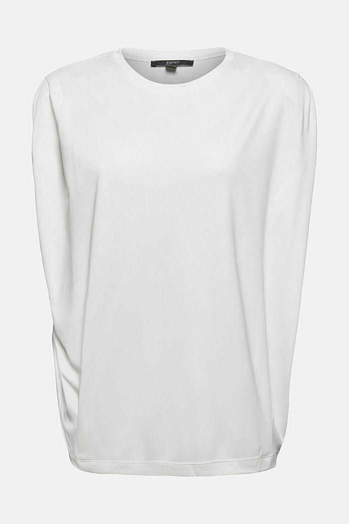 T-Shirt mit Schulterpolstern, LENZING™ ECOVERO™