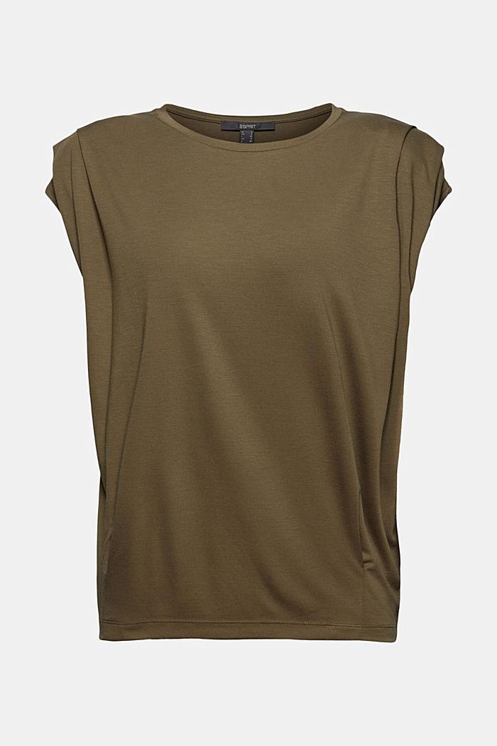 T-shirt à épaulettes, LENZING™ ECOVERO™