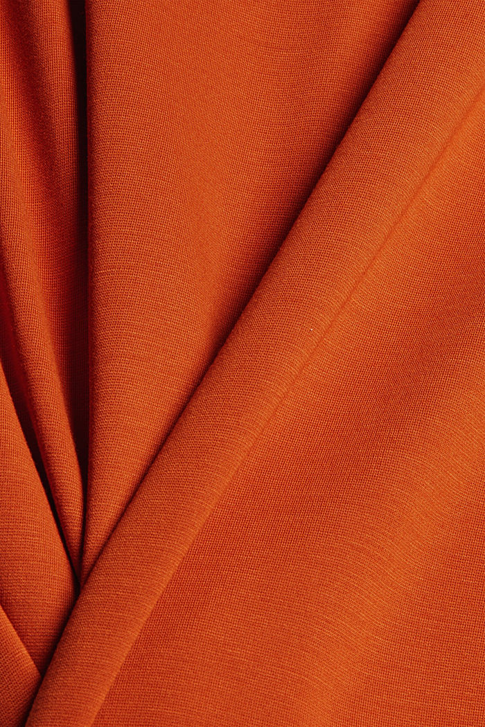 T-shirt with shoulder pads, LENZING™ ECOVERO™, TERRACOTTA, detail image number 4