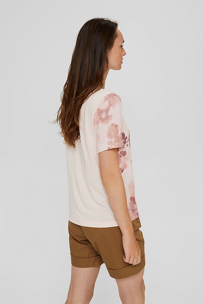 Blouse top made of LENZING™ ECOVERO™, LIGHT PINK, detail image number 3