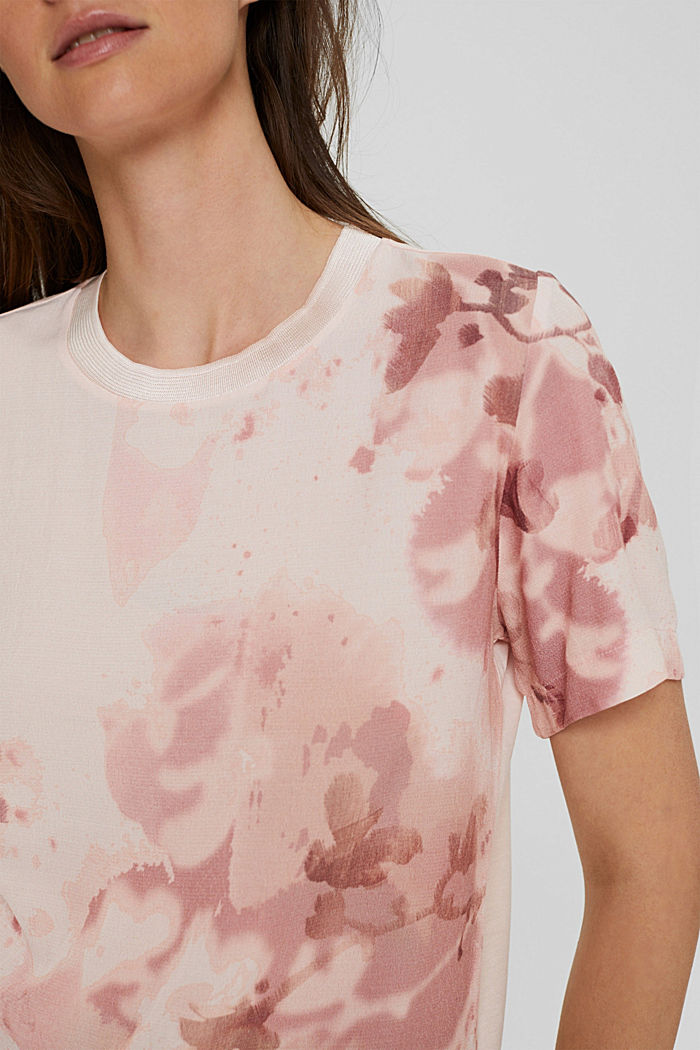 Blouse top made of LENZING™ ECOVERO™, LIGHT PINK, detail image number 2