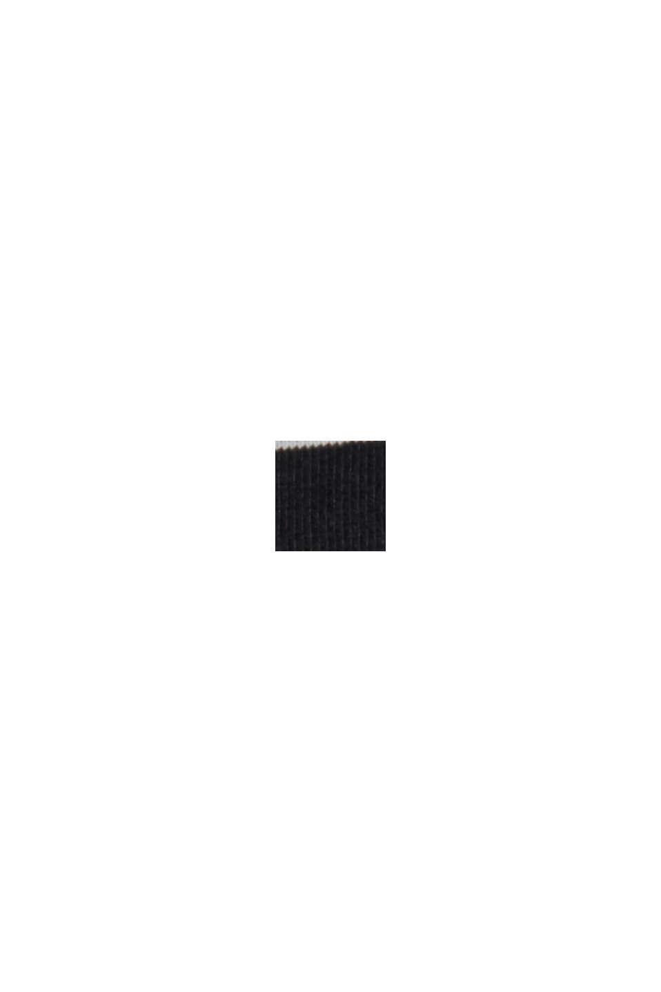 Basic T-Shirt with fine stripes, BLACK, swatch