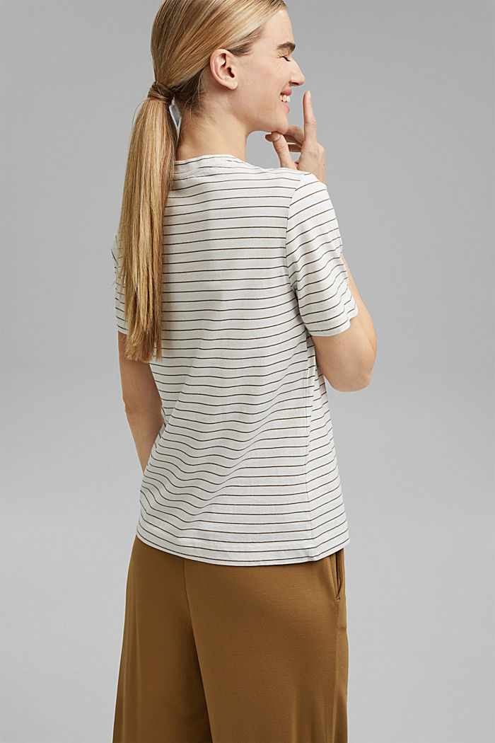 Basic T-Shirt with fine stripes, NEW OFF WHITE, detail image number 3