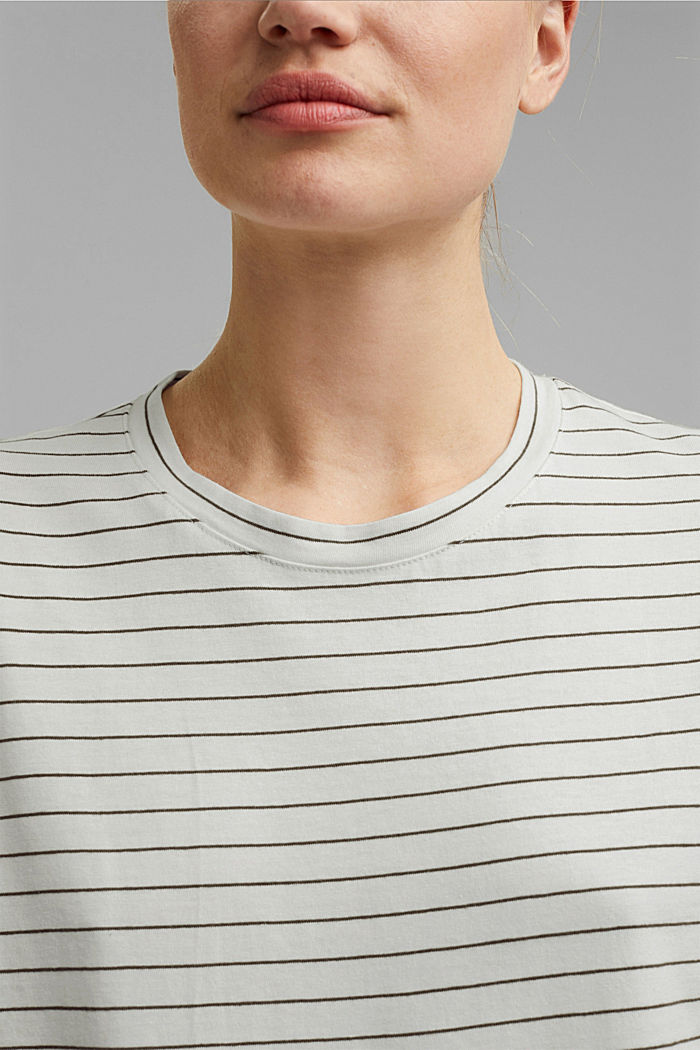 Basic T-Shirt with fine stripes, NEW OFF WHITE, detail image number 2