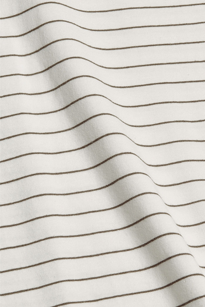 Basic T-Shirt with fine stripes, NEW OFF WHITE, detail image number 4