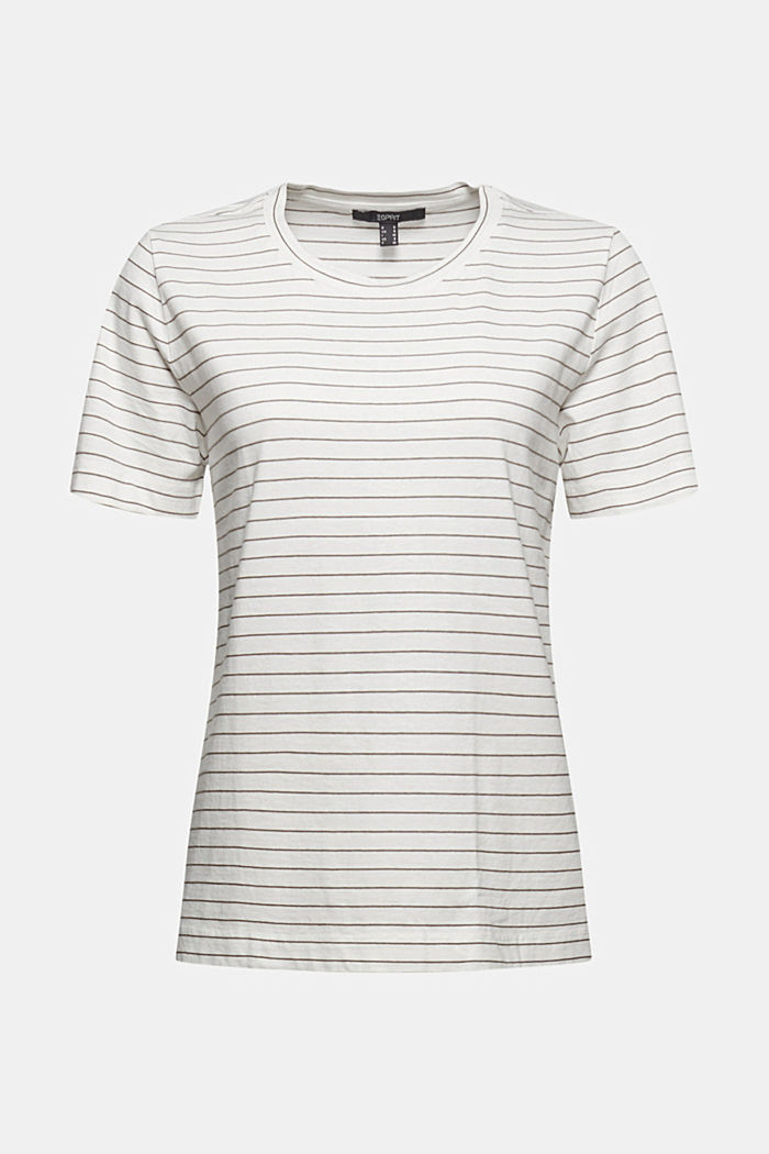 Basic T-Shirt with fine stripes, NEW OFF WHITE, detail image number 5