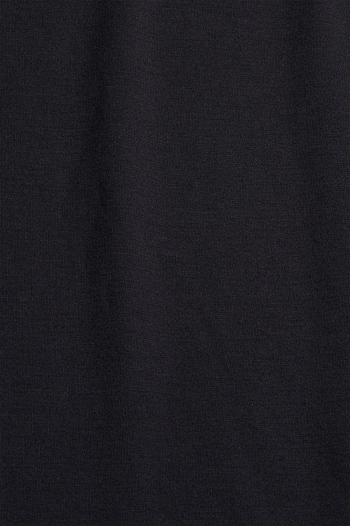 Shirt mit betonten Schultern, LENZING™ ECOVERO™, BLACK, detail image number 4