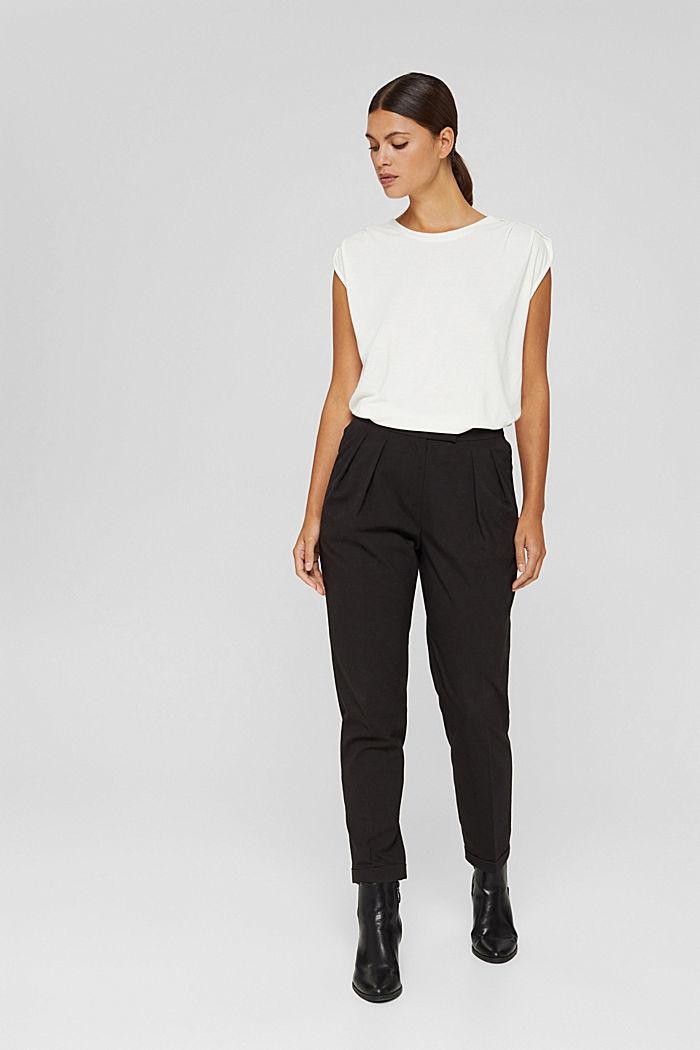 Haut à épaulettes, LENZING™ ECOVERO™, OFF WHITE, detail image number 1