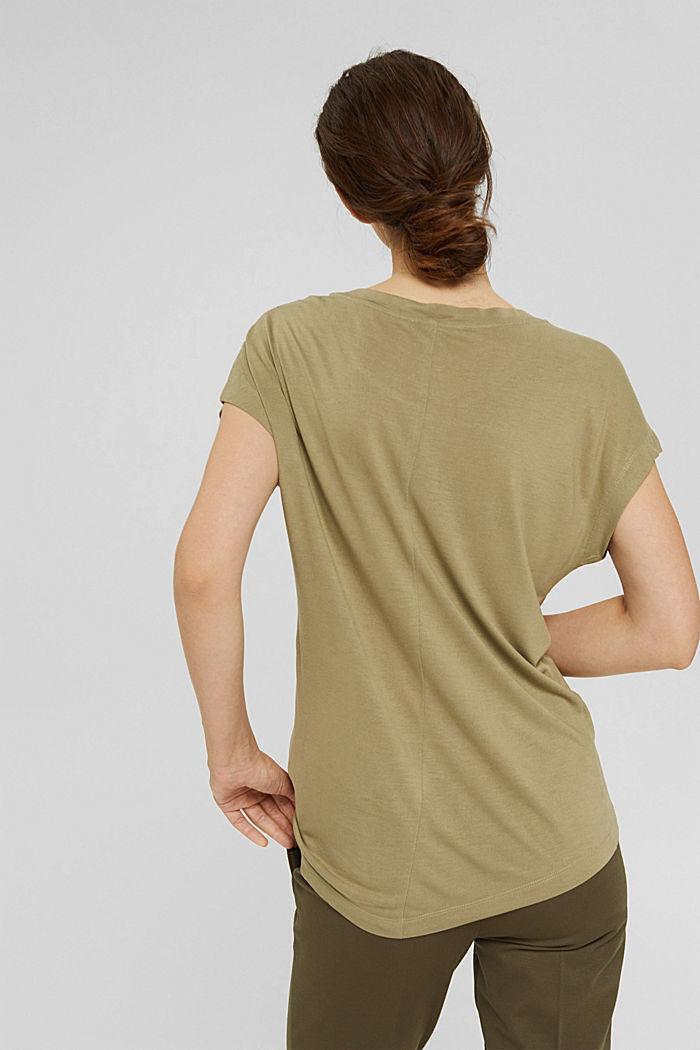 T-Shirt aus LENZING™ ECOVERO™, LIGHT KHAKI, detail image number 3