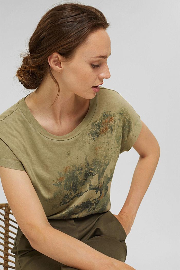 T-Shirt aus LENZING™ ECOVERO™, LIGHT KHAKI, detail image number 5