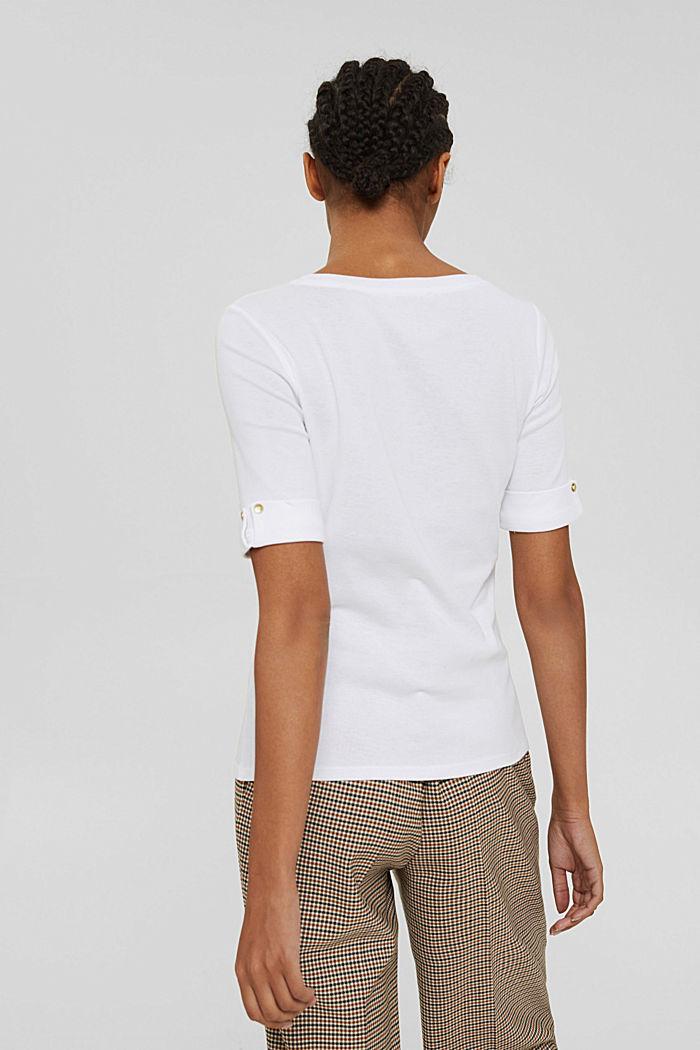 Set van twee T-shirts van 100% organic cotton, WHITE, detail image number 3