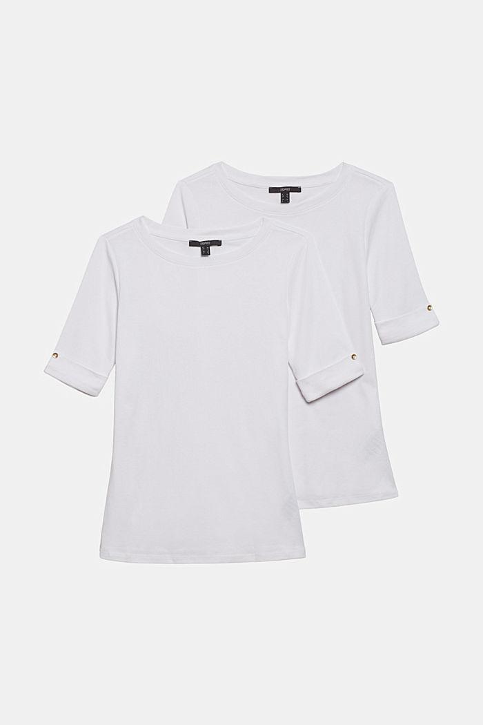 Set van twee T-shirts van 100% organic cotton, WHITE, detail image number 6