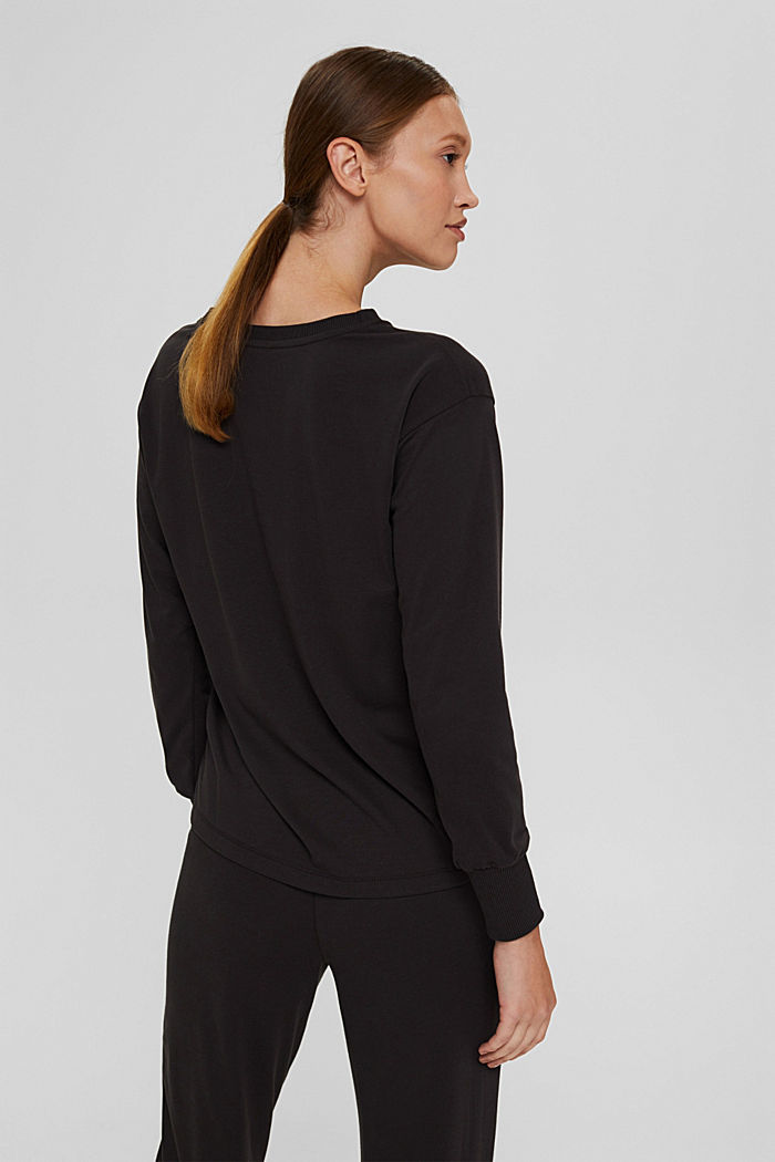 Jersey sweatshirt met TENCEL™, DARK GREY, detail image number 3