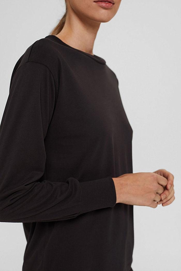 Jersey sweatshirt met TENCEL™, DARK GREY, detail image number 2