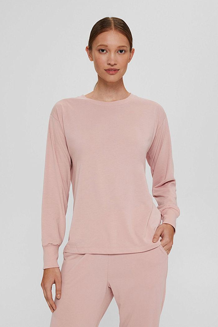 Jersey-Sweatshirt mit TENCEL™, OLD PINK, detail image number 0