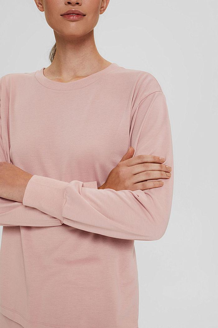 Jersey-Sweatshirt mit TENCEL™, OLD PINK, detail image number 2