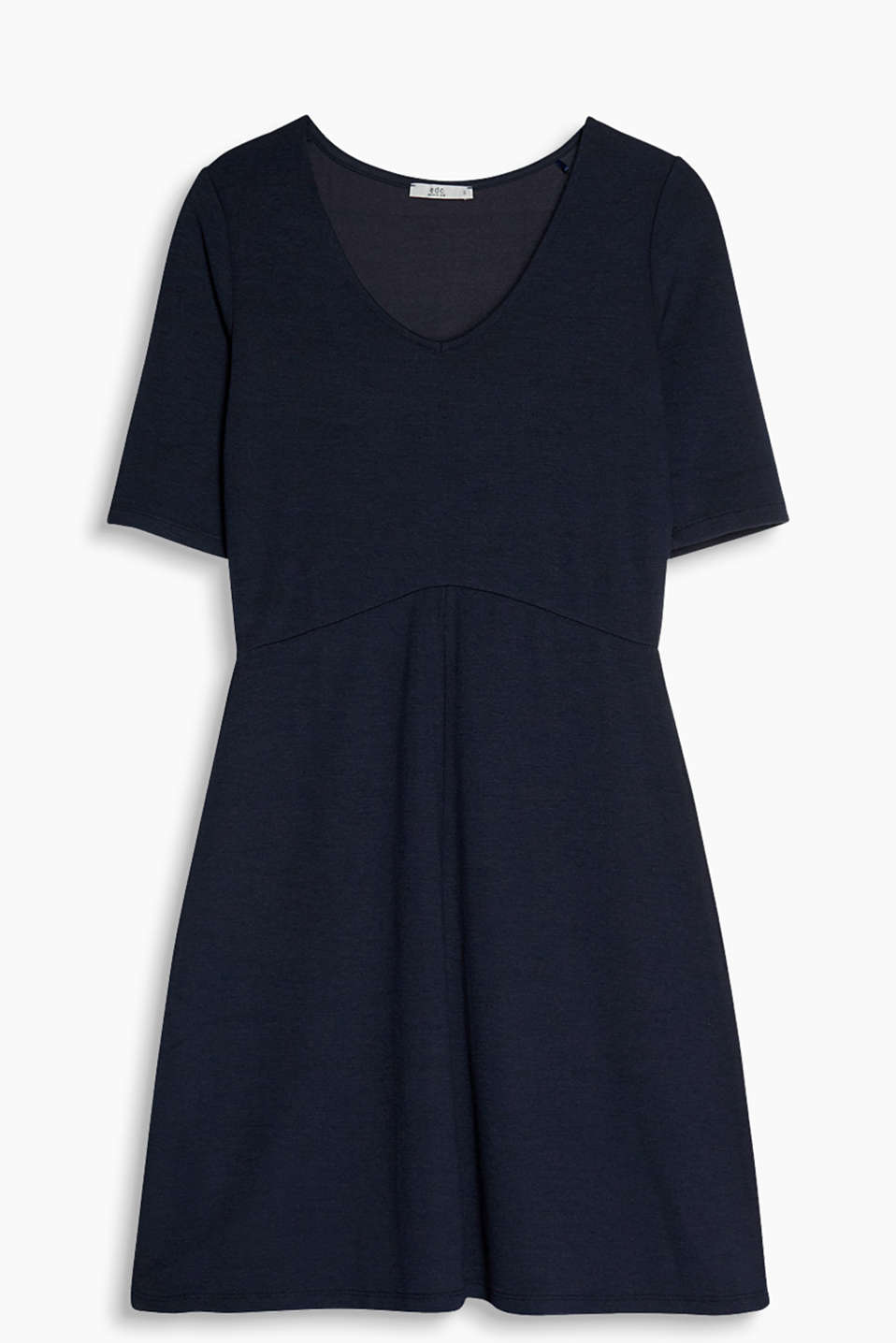So understated and versatile - A-line dress in stretchy jersey fabric