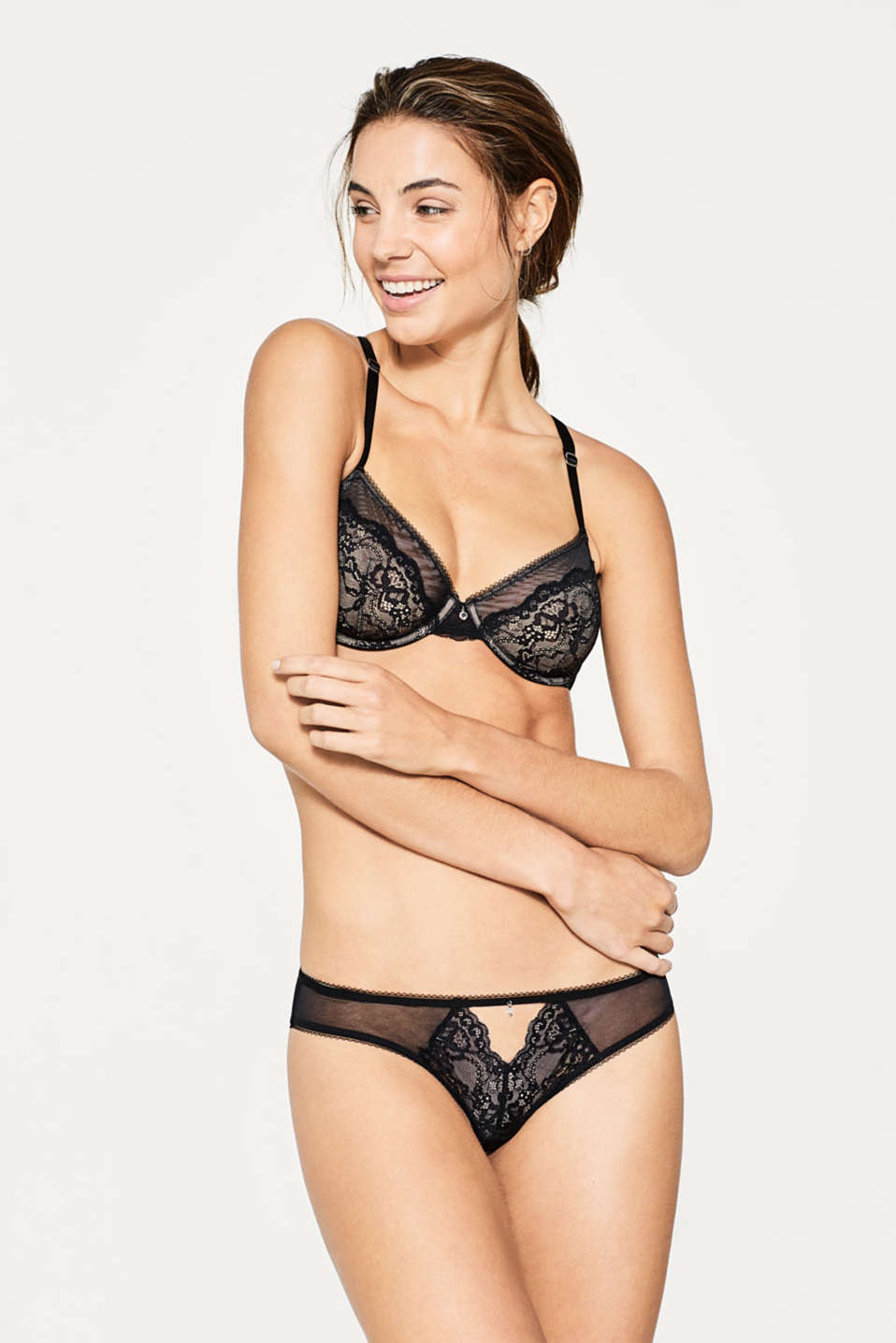 edc - Underwire tulle and lace bra