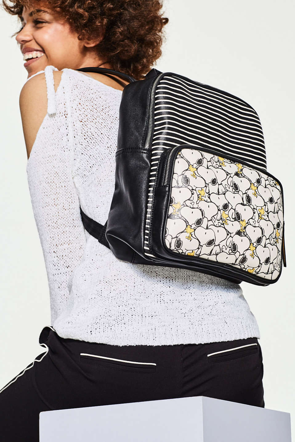 Snoopy-Rucksack in Leder-Optik