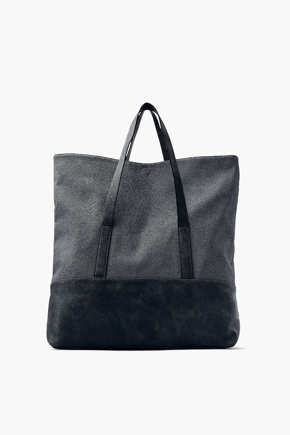 Een everyday favourite! Oversized shopper van glad imitatieleer