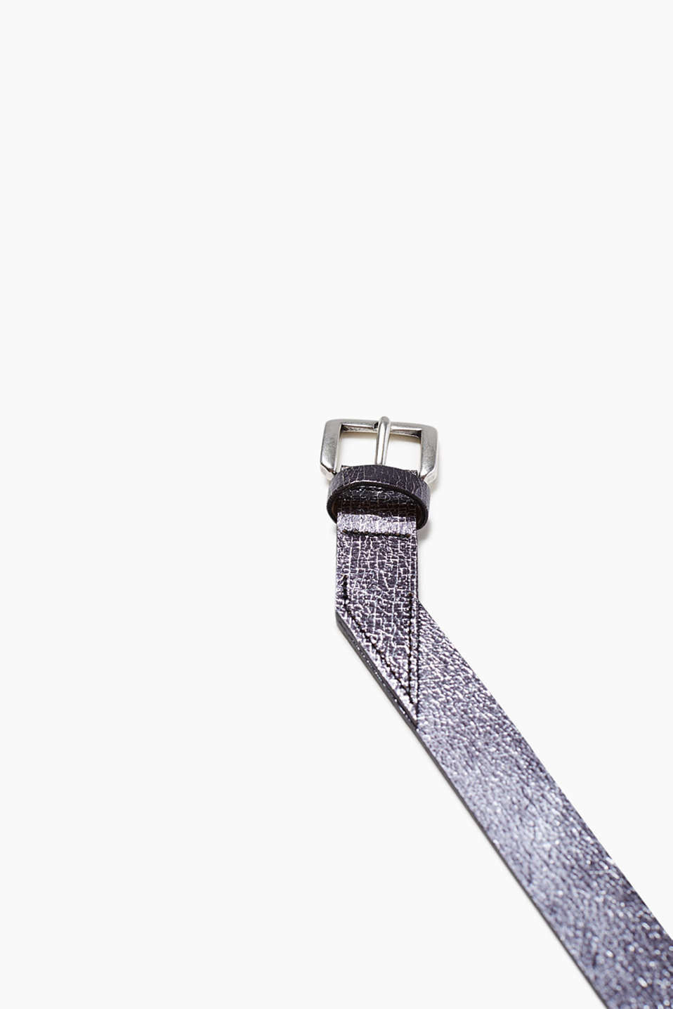 Belt in a metallic look in genuin eleather