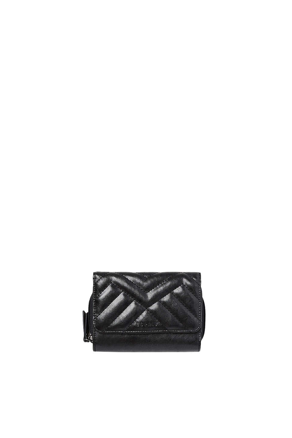 Esprit - Quilted faux leather wallet