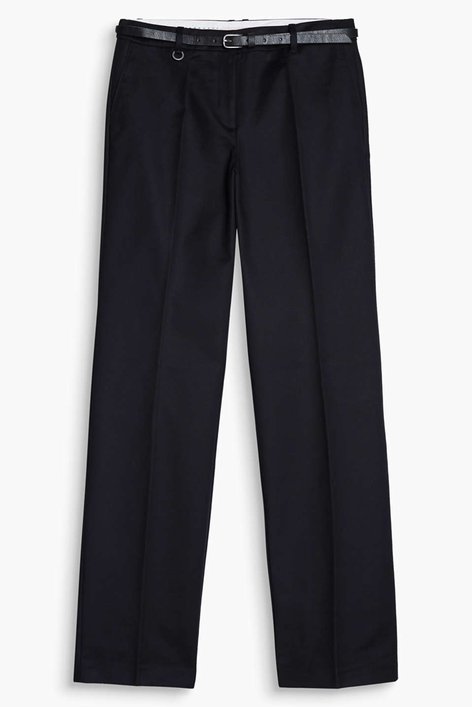 Chic at work, casual at home: the comfortable material and the straight fit make these trousers an all rounder!