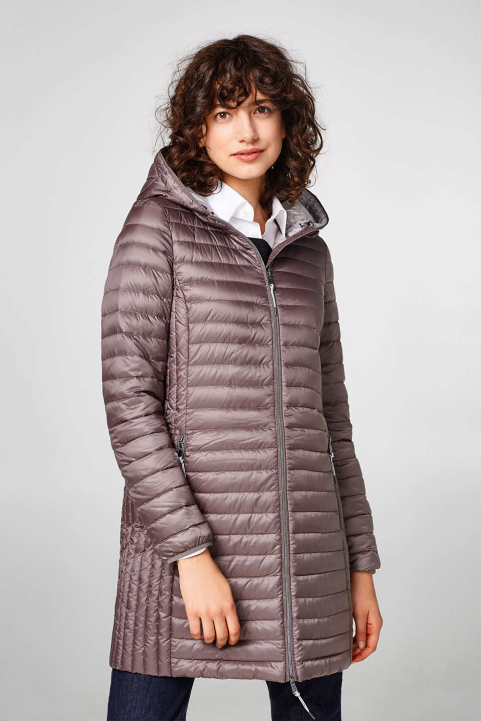 Esprit - Down coat with top details