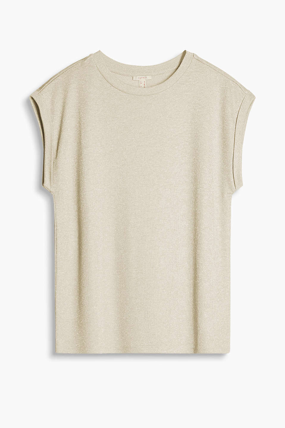 Loosely draped lurex top with dragonfly-style sleeves and added stretch for comfort