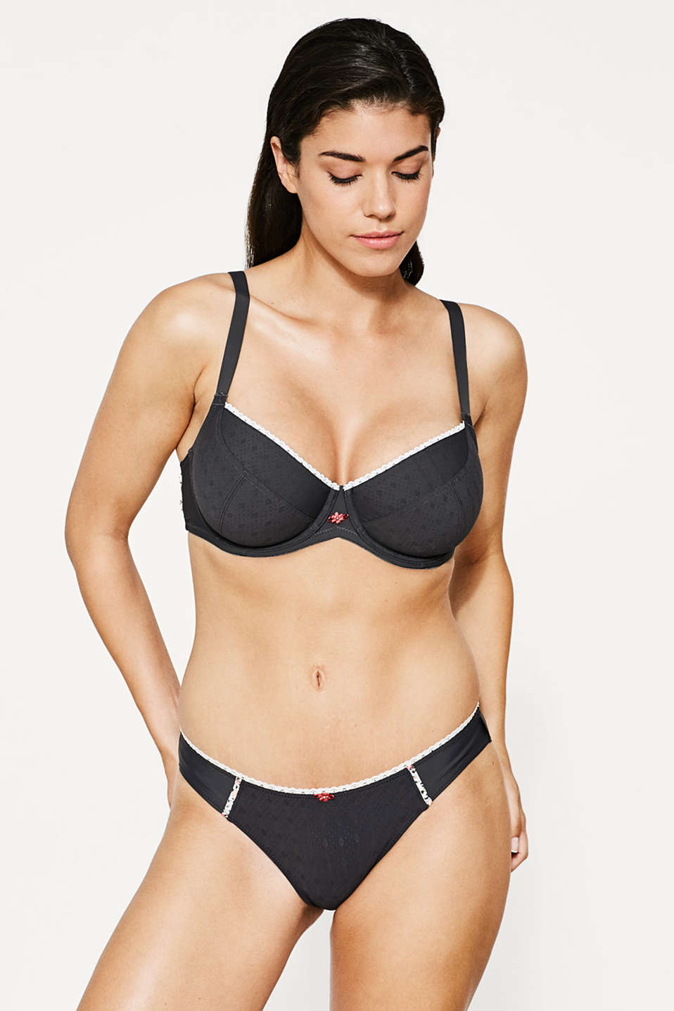 Esprit - Big-cup bra with multi-way straps
