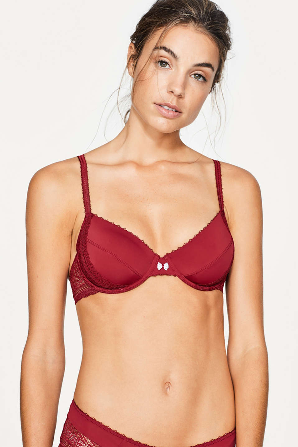 Esprit - Unpadded underwire bra with crochet lace