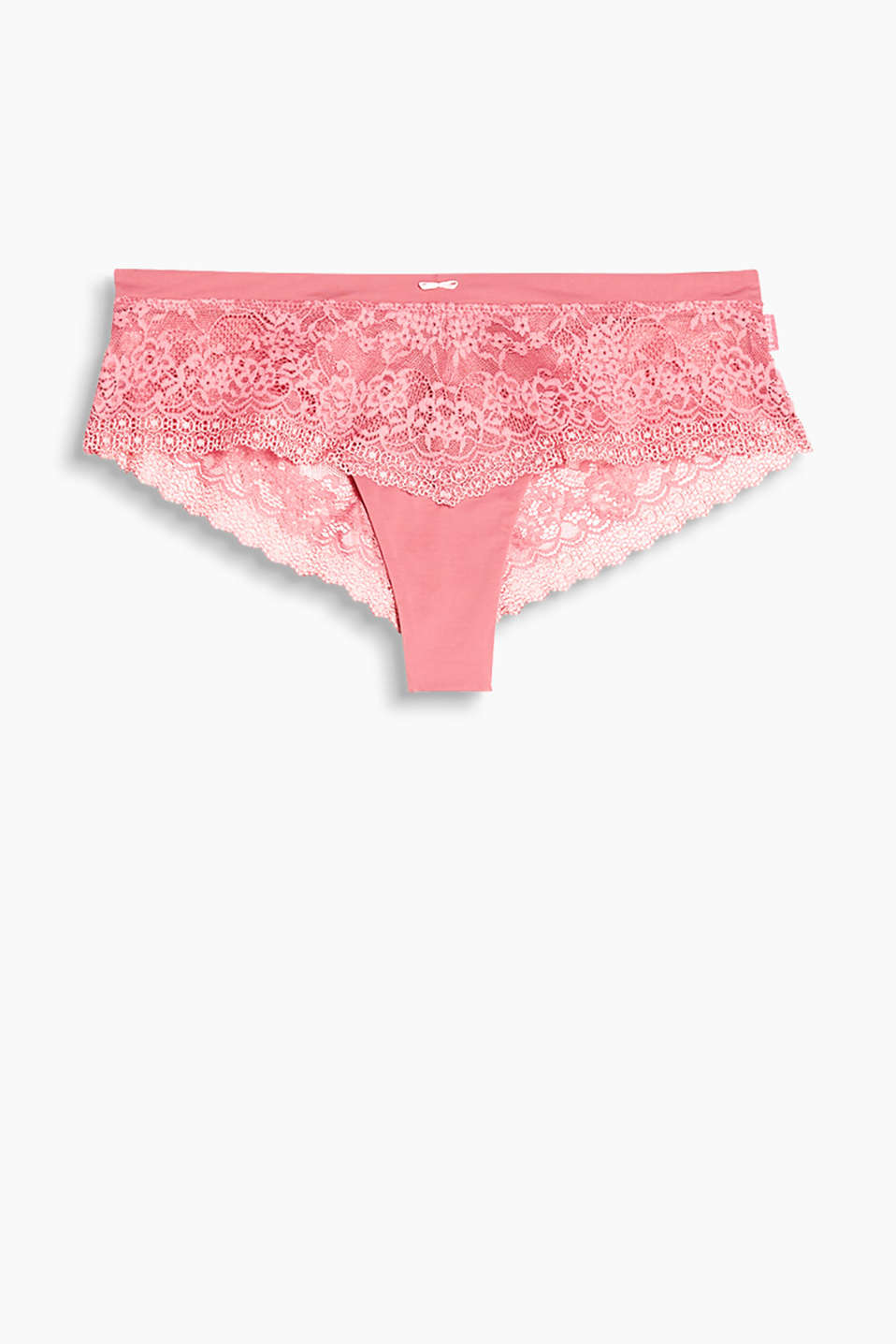 Collection: ALYSSA - Brazilian hipster shorts in lace and microfibre