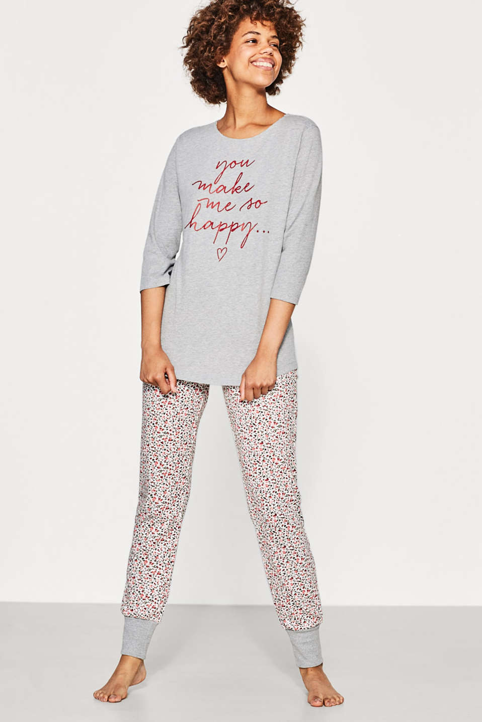 Feminine pyjama set in blended cotton