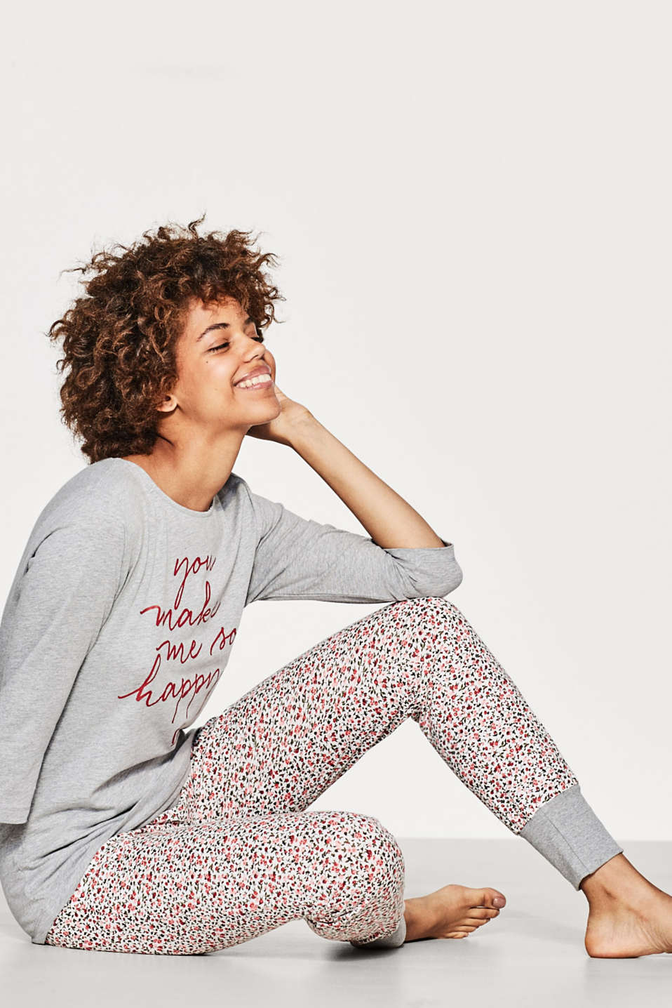 Esprit - Feminine pyjama set in blended cotton