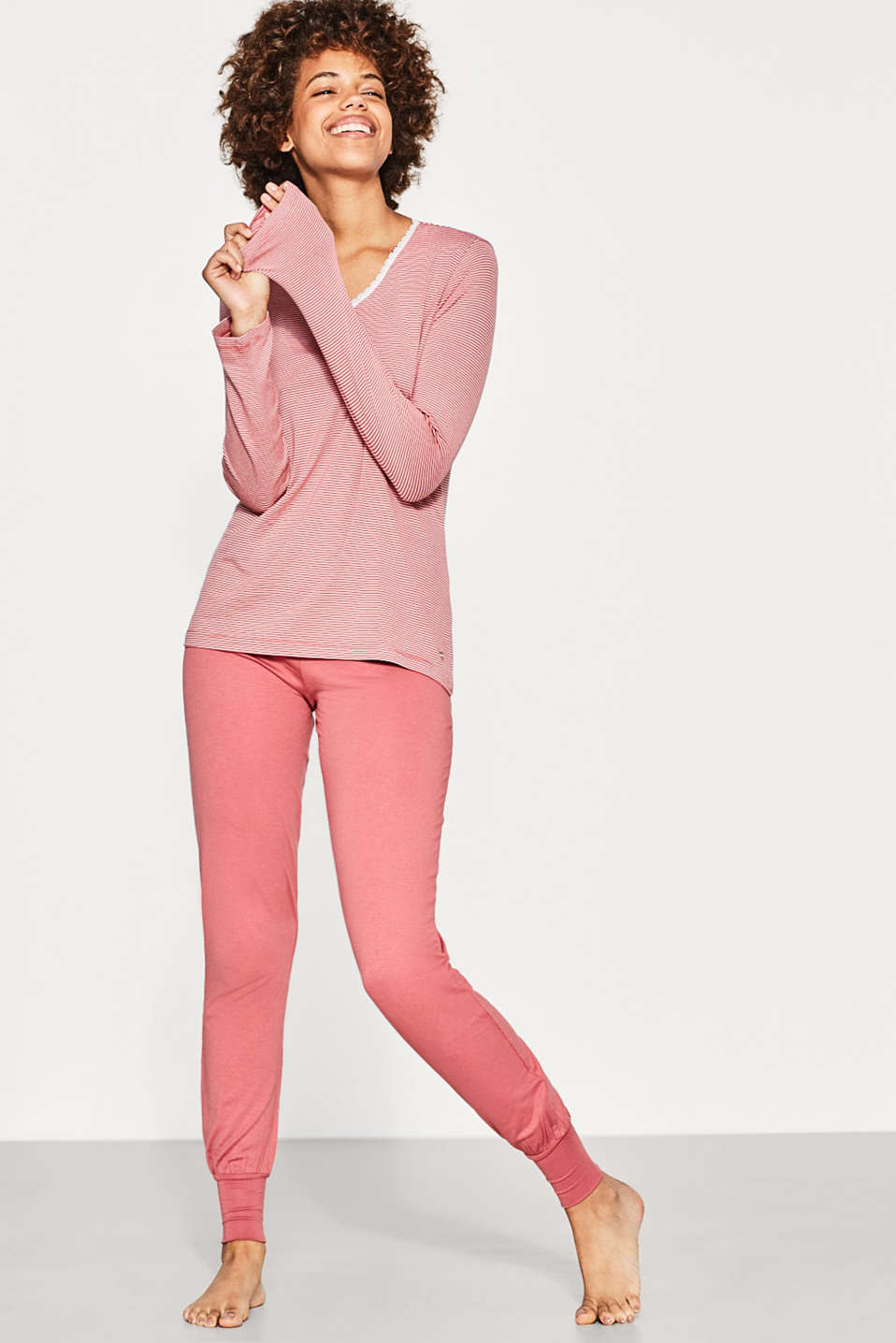 Esprit - Pyjamas made of flowing stretch jersey