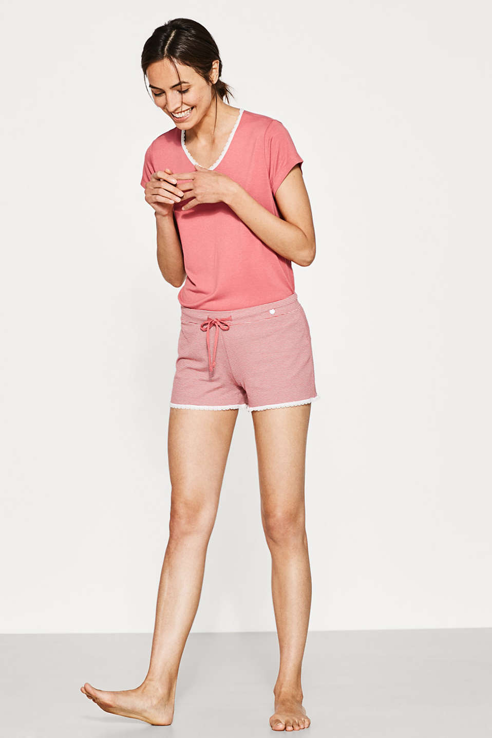 Esprit - Pyjama-Shorts aus softem Stretch-Jersey