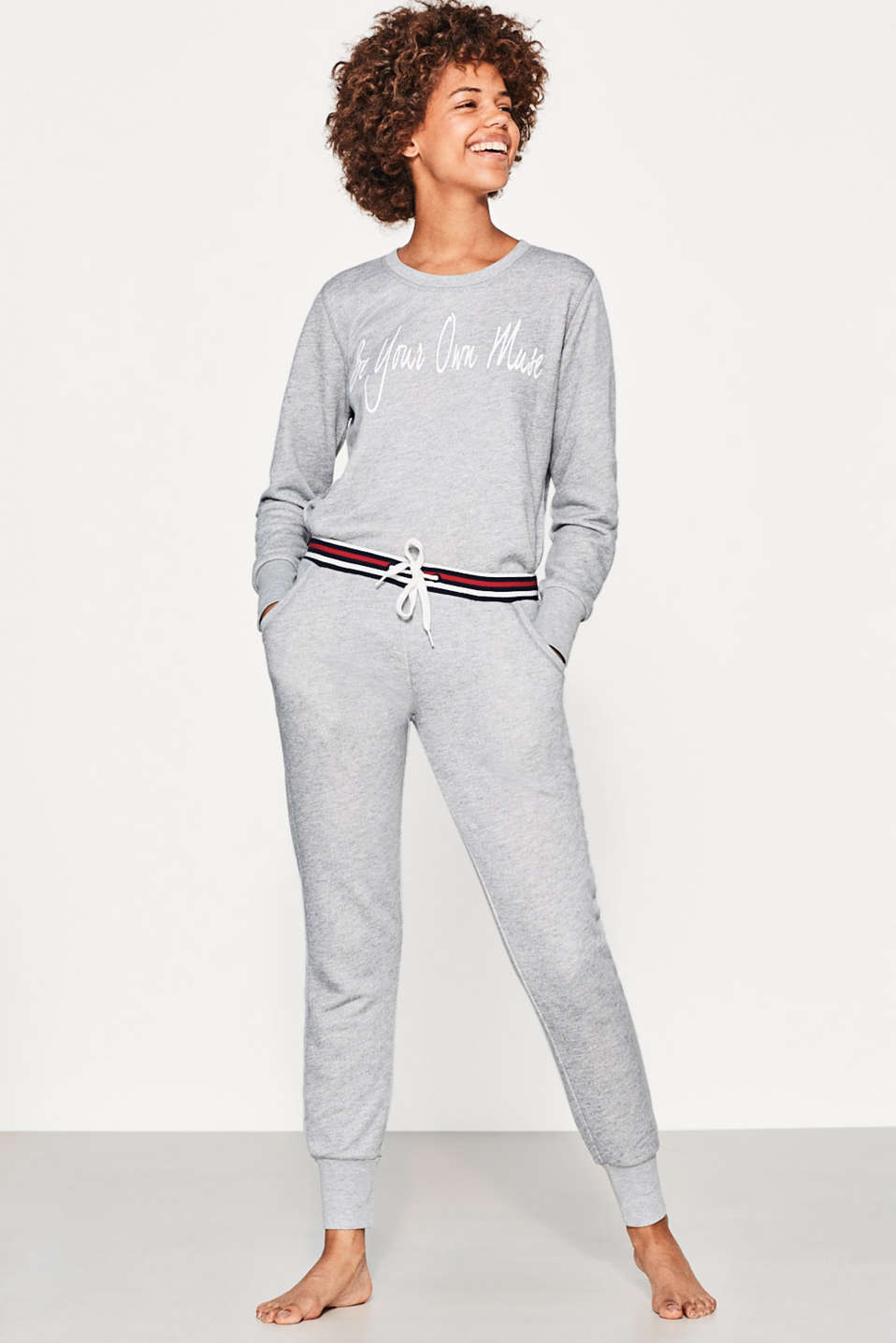 Esprit - Loungewear bottoms with striped waistband