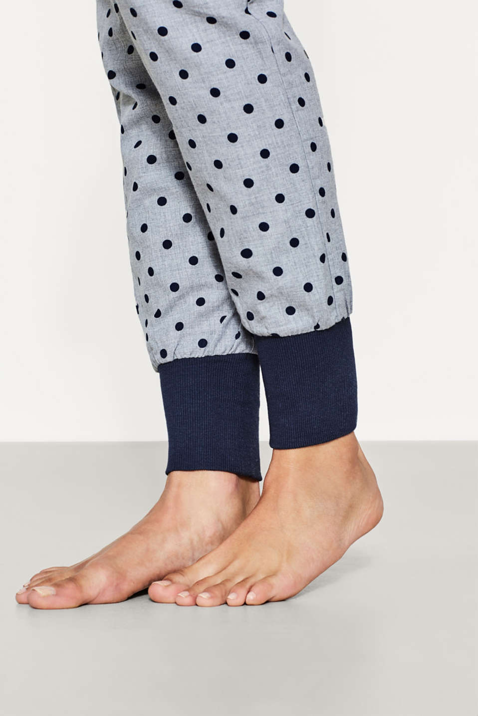 Woven dotty pyjama bottoms, 100% cotton