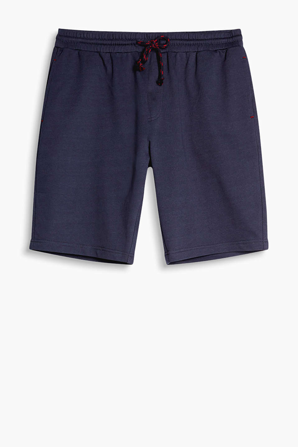 Jersey Bermudas with a wide elasticated waistband
