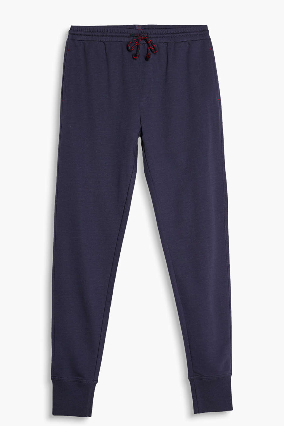 These soft jersey trousers are great for chilling: at home, playing sports and, not least, for sleeping in