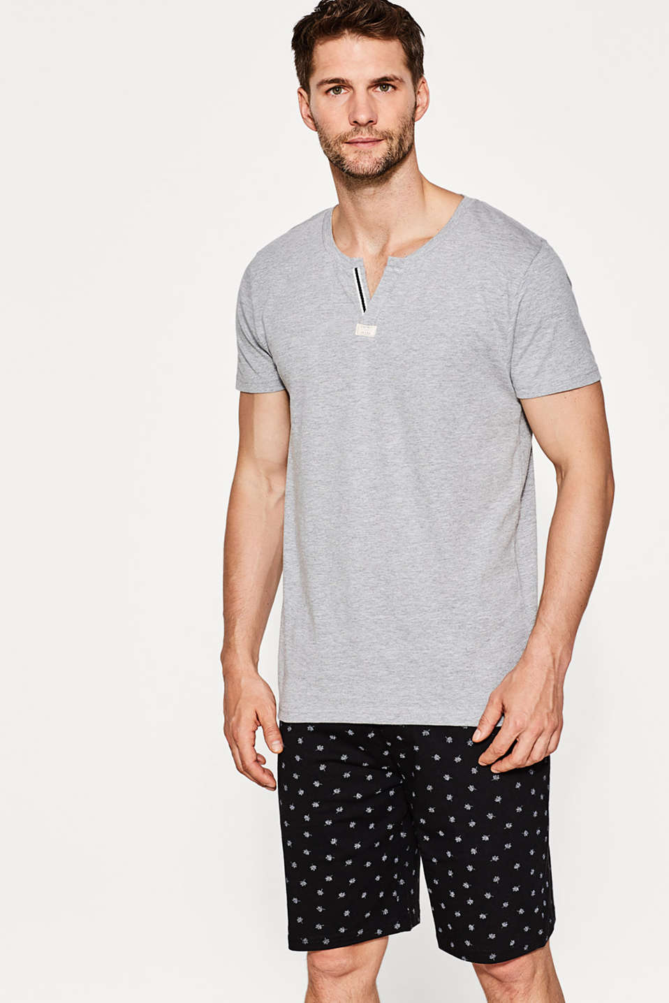Esprit - Cotton blend jersey pyjamas