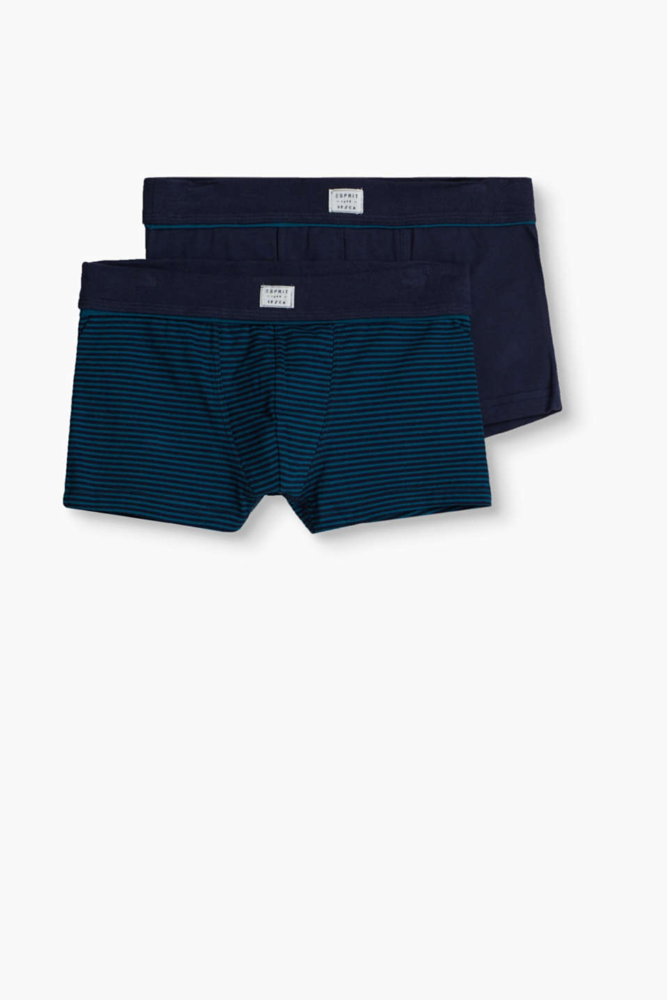 Esprit - Double pack of striped boxer shorts