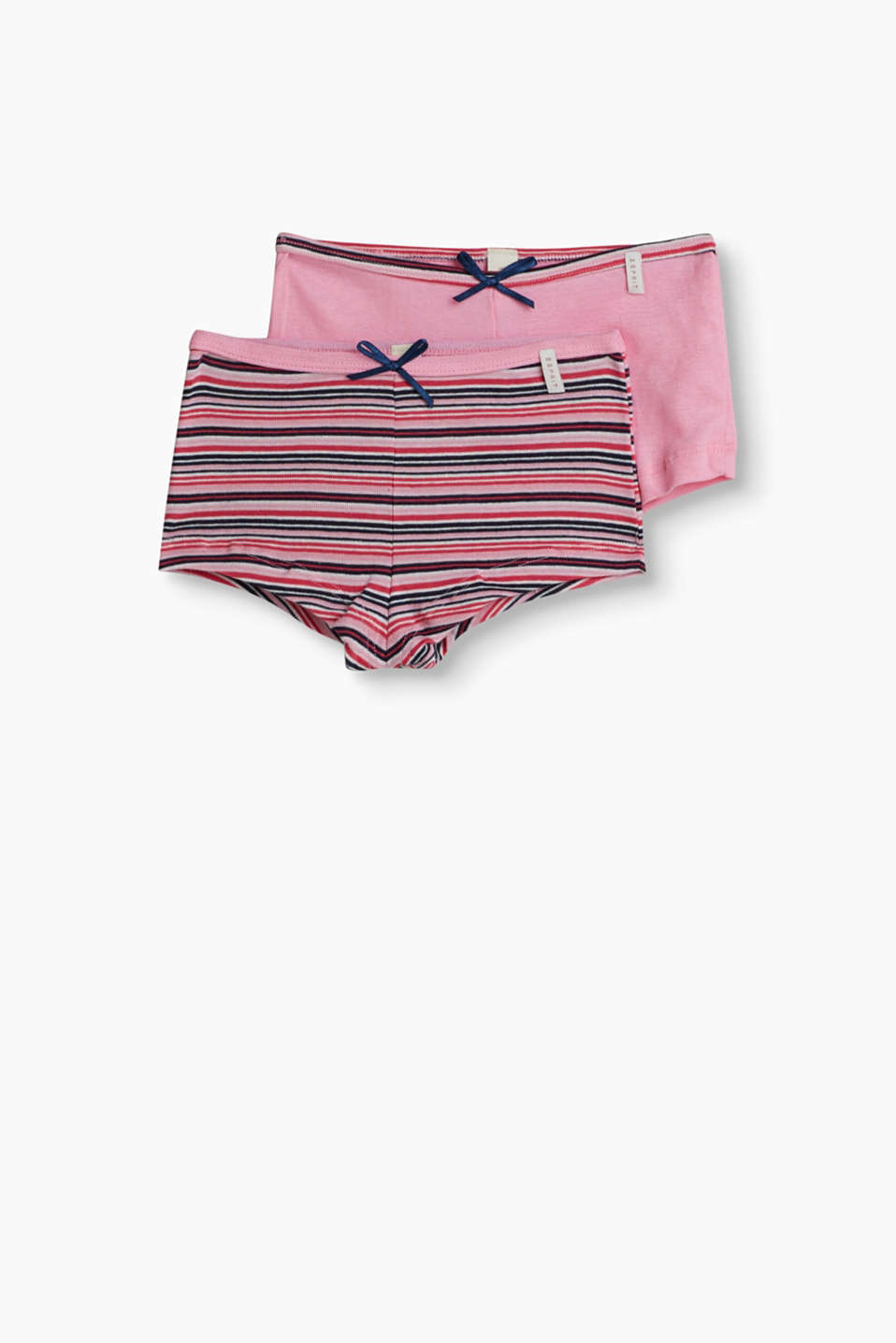 These cotton jersey hot pants unite exceptional comfort with a cute look