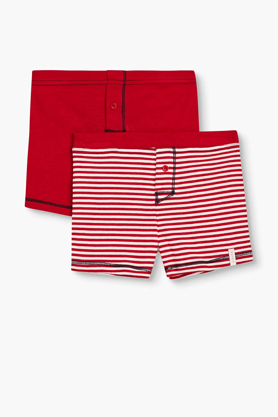 Super comfortable and sporty: soft cotton boxer shorts in a practical double pack