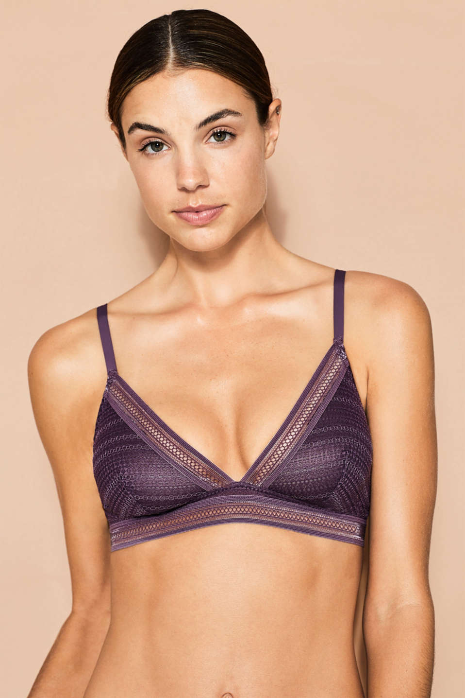 Esprit - NYE wireless bra in graphic lace